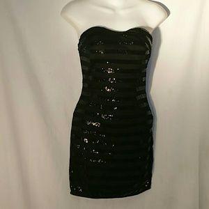 Dresses & Skirts - 2/$10 BLACK PARTY SPARKLE MINI DRESS STRAPLESS SP